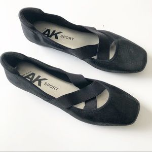 Anne Klein Sport Black Ultimo Ballet Flats